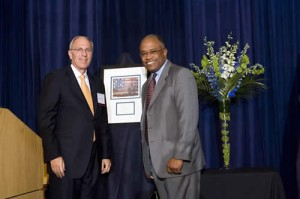 Marty Klepper and Honoree Kurt Schmoke