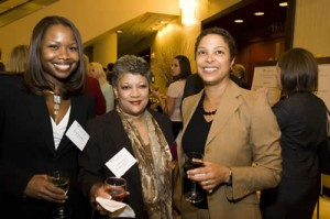 Qualahnia Suggs, Charmaine Cooper-Jamison, and Legal Aid Trustee Donna Cooper all from BET