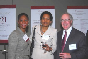 Rhonda Cunningham Holmes of Chevy Chase Bank (Board), and Tangela Richter and Stephen Gannon of Capital One