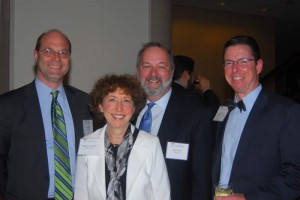 Dinner Co-Chair Kurt Richter of Cassidy Turley; Marjorie Krumholz of Thompson Coburn LLP;