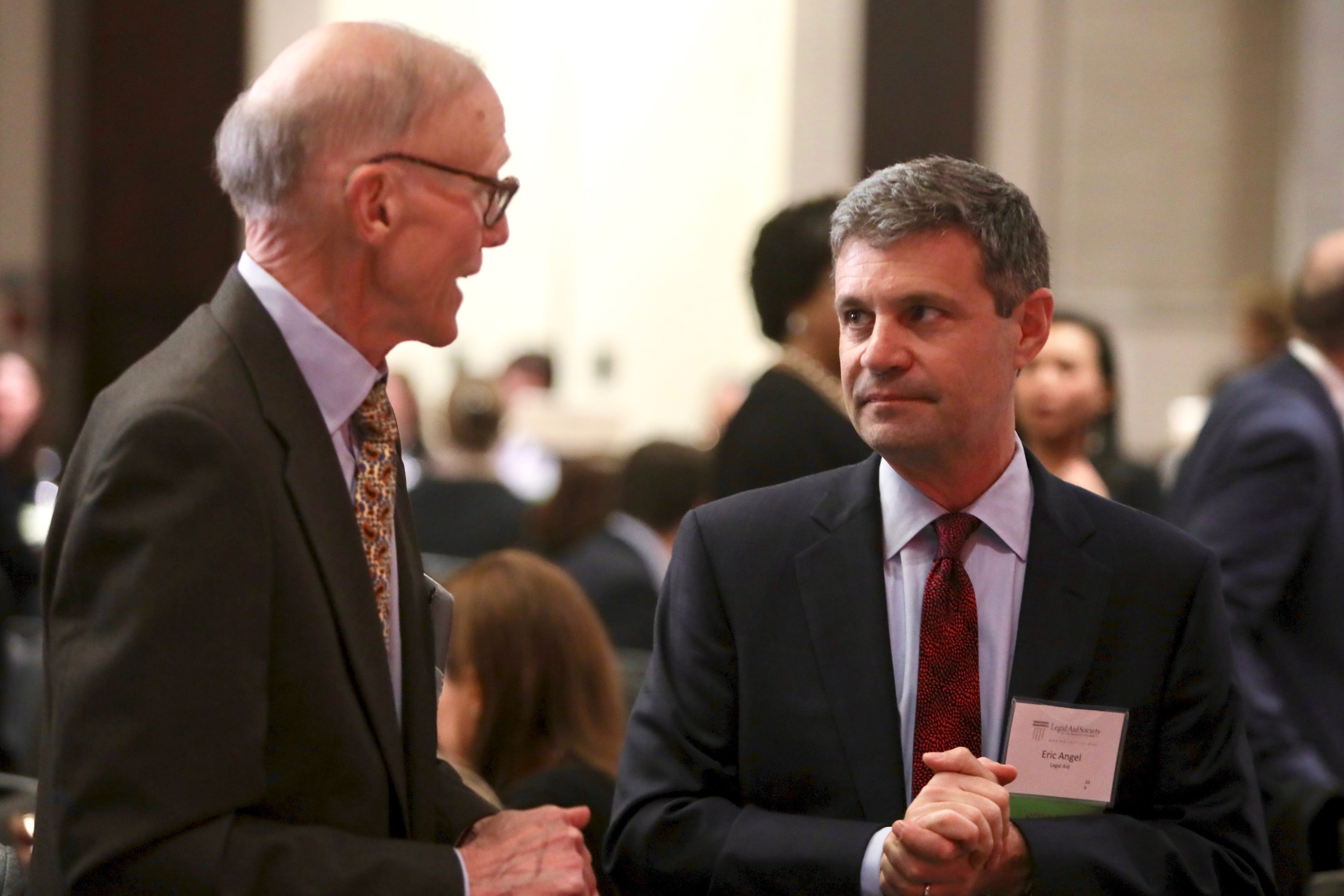 Photo of Executive Director Eric Angel with former board president Stanley Dees