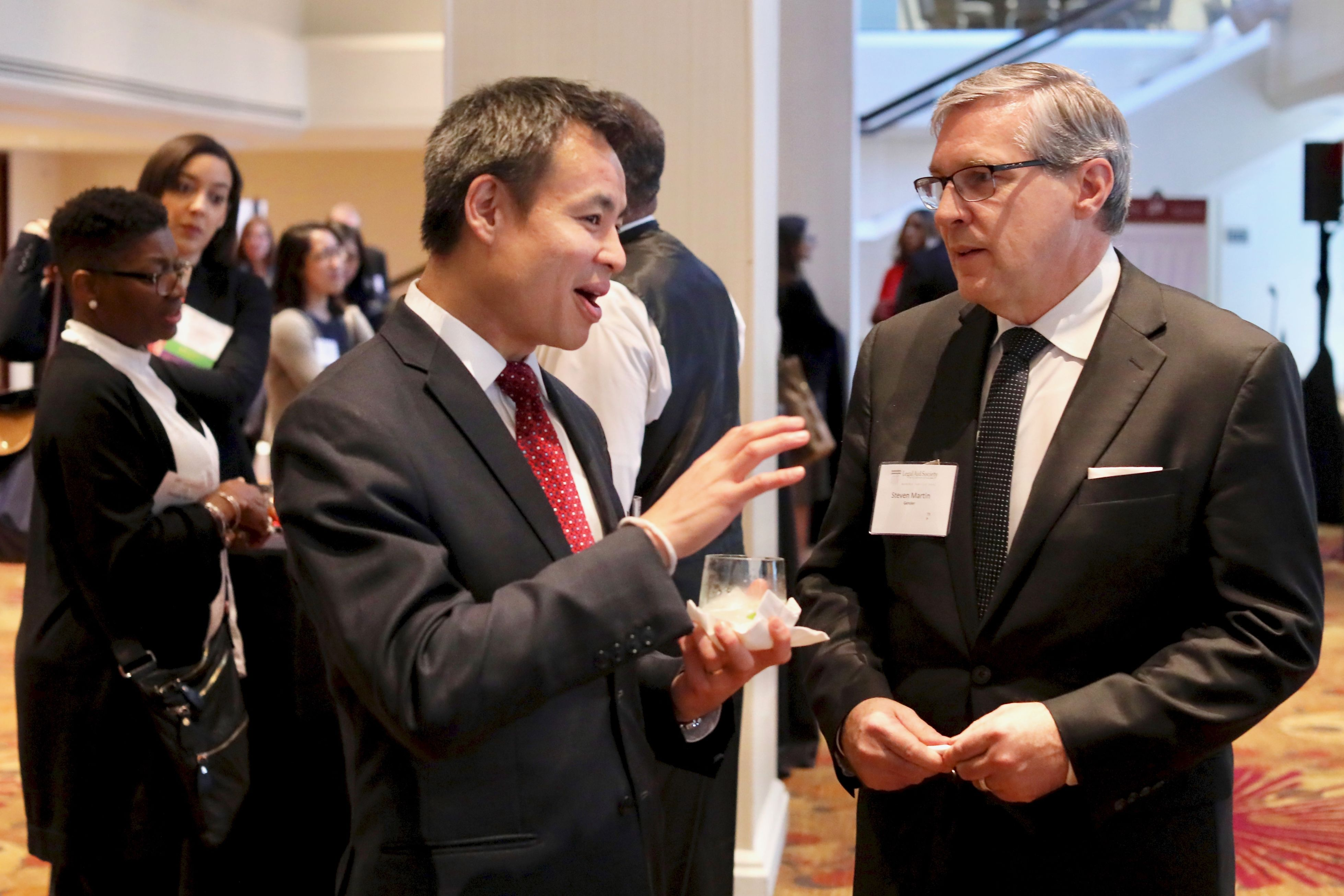 Legal Director Chinh Le with Steve Martin of Gensler