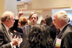 Board members Jon Fee (c) of Alston & Bird with Ken Klein (l) of Mayer Brown and board member John Nannes (r) of Skadden