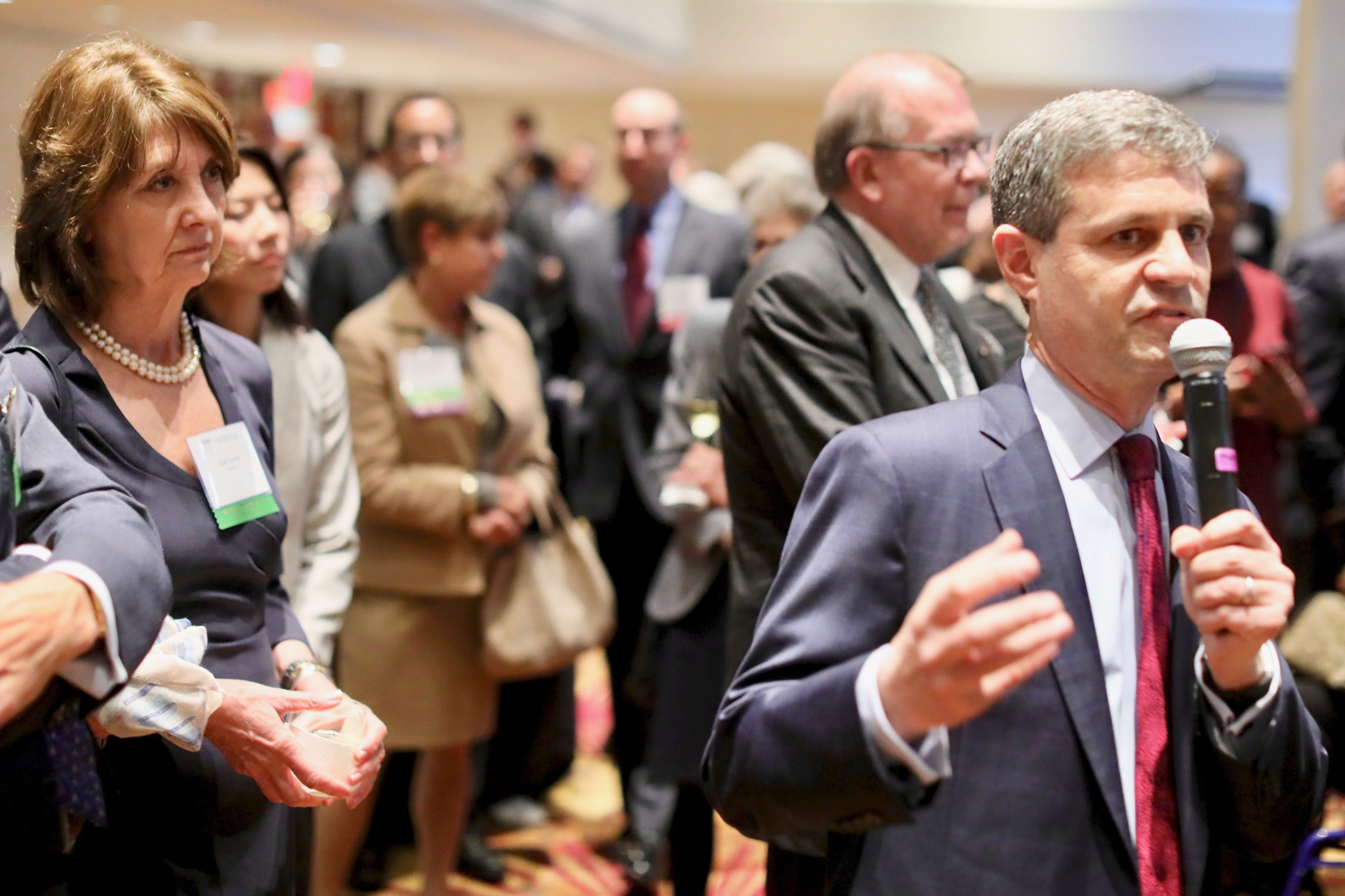 Executive Director Eric Angel addresses the President's Reception